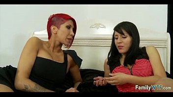 mother force sister brother teaching Asian spandex assjob