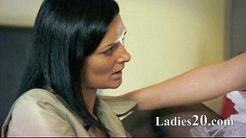 lesbian strap punishment Amai liu babysitter tiny