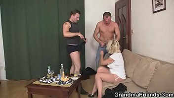 dp mature blonde Talk with dick in mouth