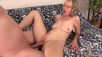 big mature oldy on squirts dick German self shot4