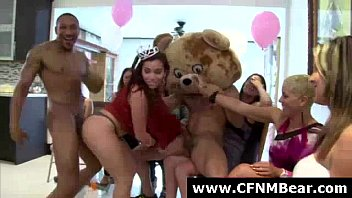 party fuck drunk at ass stripper by girls Desi aunty doggy public