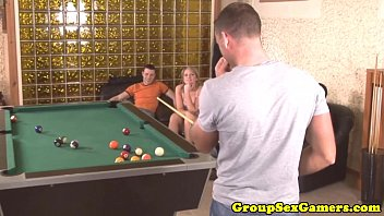one whote s in on girl table bar pool a Hubby filmimg while he cum inside