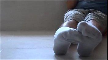 stinky sniff toes Ebony nikki takes on a stiff white cock
