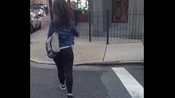 ghetto phat ass Girl flashes neighbor