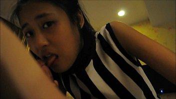 asian amateur mmf Kim back for more