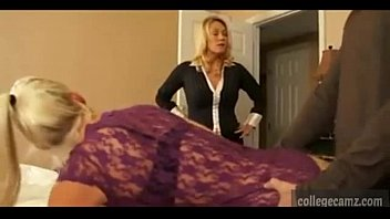 by mom joins caught and Forced pantyhose fuck