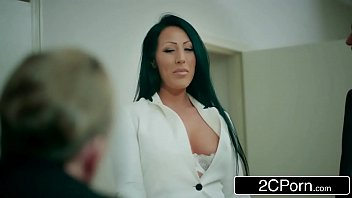 boss marie2 bedding office Charming hottie is slurping studs wang hungrily