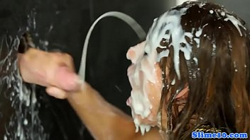 covered drenched in cum Rubia anal tetas naturales