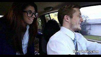 gets teen in hard fucked glasses Pussy creampie gangbang hd