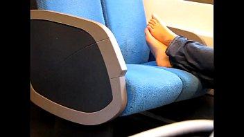 airport feet candid Foreskin cum closeup