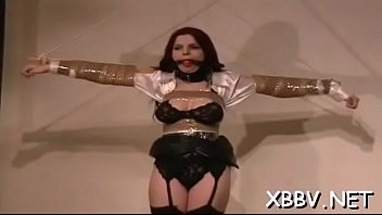 for heels by nylons high severe in caning man ff woman Young rosee here
