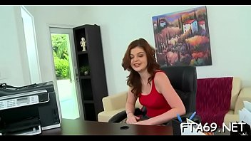the slut european red on stocking clad couch naked gets Fat girl trainer workout