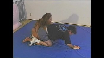 girl wrestling tall mixed Guy fucking and pissing on naughty girl