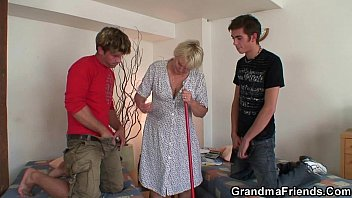 teasing granny old Forcibly having sex