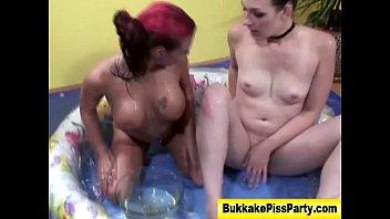 golden shower first real Teen girls cunt full of spunk