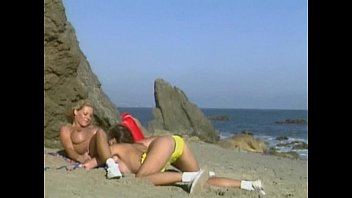 sex beach lesbians at nude Black mom caught