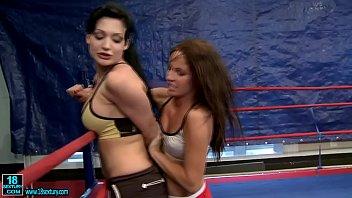wrestling iwowa silky Two birds making out