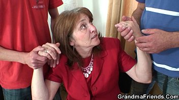 granny solo stocking Huge naturals anal creampie