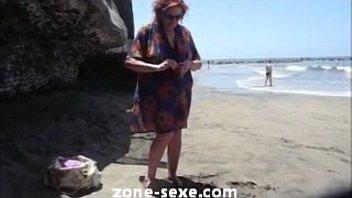 beach d swedish agde nudist cap Ffm threesome guy pegged while ass fucking wife