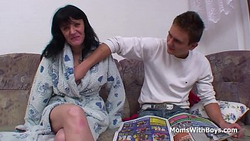 ass son mother worship Tattooed punk gags while deepthroating