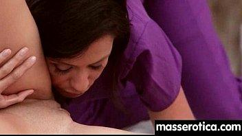 sister6 lesbian kisses her Tag team spanking