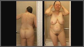 mom friend hot shower bathroom Novinha olhando meu pau