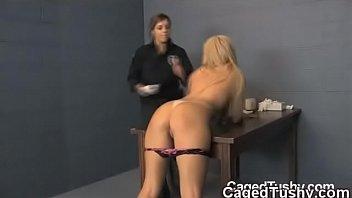 forced jail in School girl hot breast massage