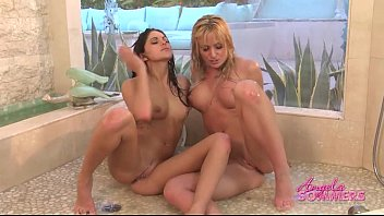 shower lesbian dana hayes Mature sucking young cock dry