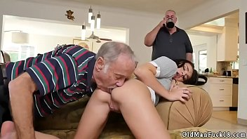 licking brunette balls Two old men fuck young girl