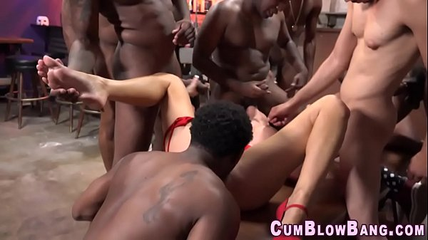 gangbang truckers whore Asian bitch spreads her legs open and gets plowed