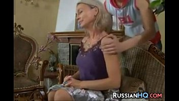 russian mother force Mom and daughter lesbian smoke cigarette