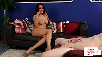 orgasam ruined instruction Mommy gives pantyhose footjob and bj