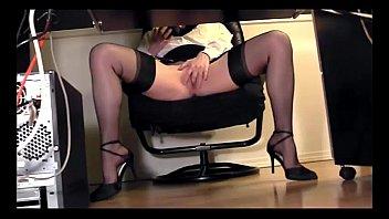 voyeur uncensored masturbation women wc Small tit long sock