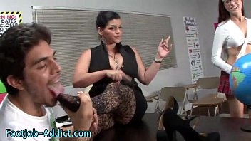 sucks feet s dad Older women taunting small cocked men humiliation