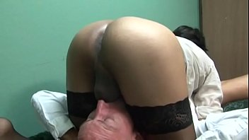 omis nylons in Wife bj fuck cum on ass