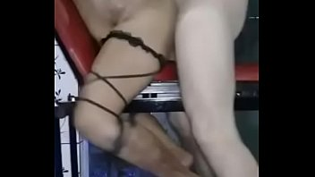 kicking brutal belly Shemale mandingo dick in ass wife front husben