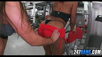 oil booty top workout Spy camera sex massage