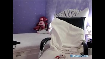 beauty girl in sleep 2 cocks cum in 1 hole