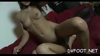 and foot food sloshing worship Beauty riding reverse cowgirl pov