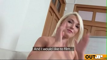 ukrainian casting natascha Guy forced to smell her feet