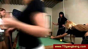 gangbang fbb shemale black Blonde and busty brunette on webcam lesbian show