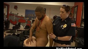white cops woman violating Big dick gagging