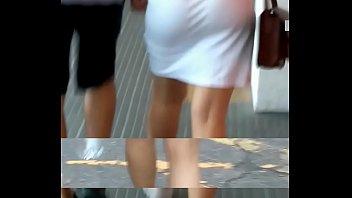 rabuda coroa marido gostosa traindo Ballbusting miniskirt thigh high boots