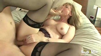 in blonde milf stocking Anal pet rough