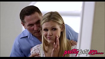 a daughter giving catches dad mother blowjob12 her Posh blonde gets facial and creampie2