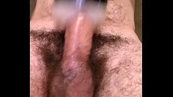 meets boots balls Mature woman giving blowjob cum to tits in the sitting roo