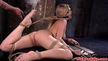 bondage fucking tied machine Black tranny punishment