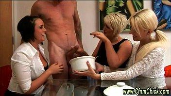 facesitting femdom handjob Heavily pierced slave