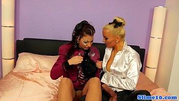 tribbing euro lesbians Brutal forced by big dick