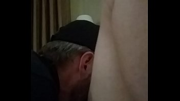 talk my dirty pussy while eating Hot brunette get fucked and got facial